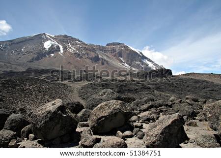 summit of kilimanjaro in tanzania / africa
