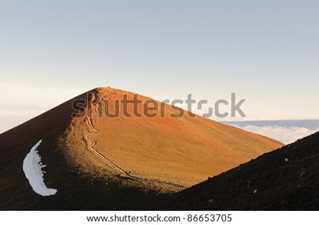 Summit of Mauna Kea with footpath