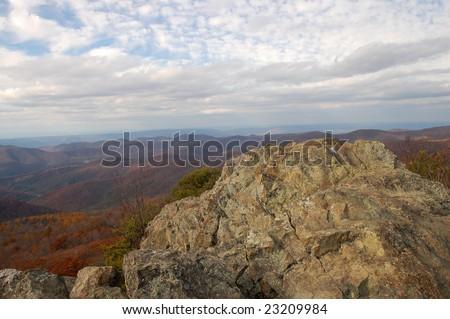 Summit of the Bearfence Mountain Trail - Shenandoah National Park, Virginia