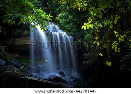 Sumrongkiat Waterfall in thailand #442781449