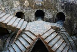 Sumur Gemuling Taman sari water castle. The underground mosque in Yogyakarta, Indonesia. The royal garden of sultanate of Yogyakarta
