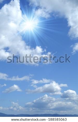 Sun and blue sky #188585063