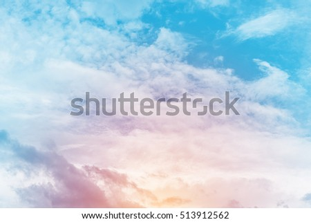 sun and cloud background with a pastel color   - Shutterstock ID 513912562