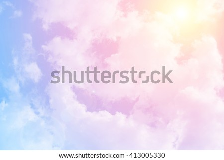 sun and cloud background with a pastel colored - Shutterstock ID 413005330