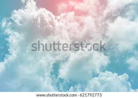 sun and cloud background with a pastel colored  - Shutterstock ID 621792773