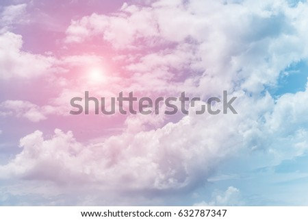 sun and cloud background with a pastel colored  - Shutterstock ID 632787347