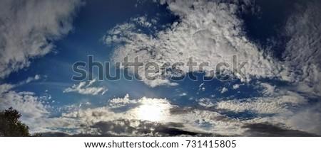 sun and cloud panoramic  #731415805