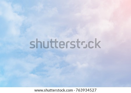 sun and cloud pastel color