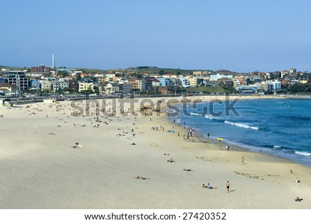 Sun and sand, bondi beach in Sydney, Australia