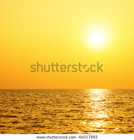 Sun and sea, may be used as background