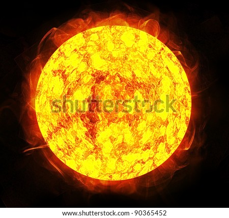 sun and space Background