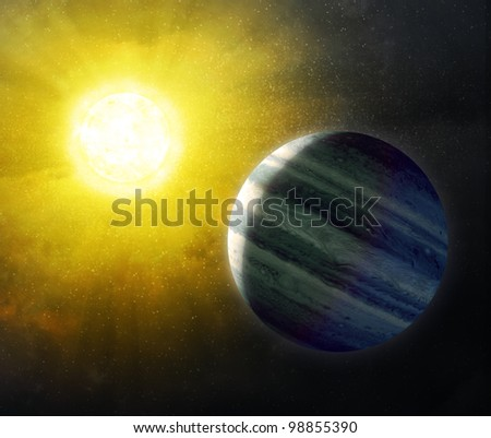 Sun and Star background