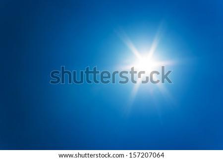 sun at clear blue sky #157207064