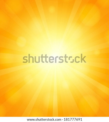Sun background with sun-rays