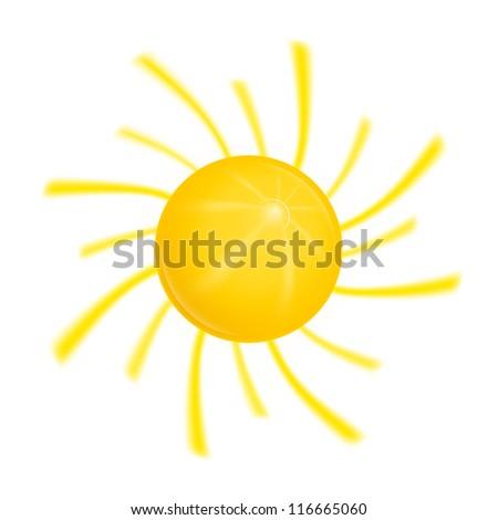 Sun bitmap copy - stock photo