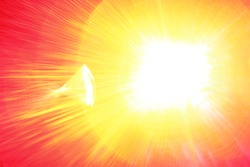 Sun blast abstract background with red, yellow, and hot pink tones.
