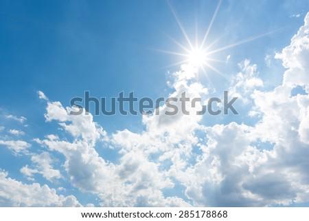 Sun, blue sky - Shutterstock ID 285178868