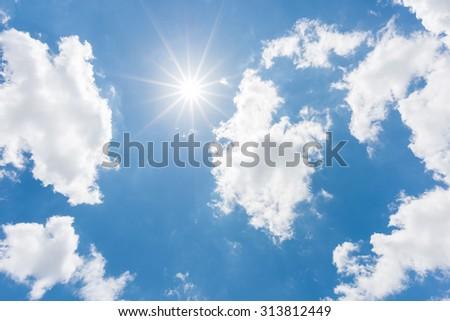 Sun, blue sky - Shutterstock ID 313812449