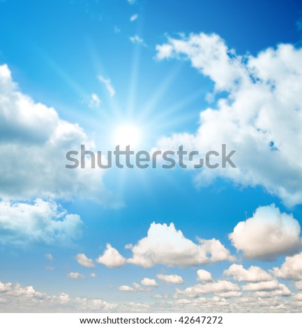 Sun breaking through! - stock photo