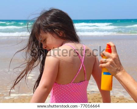 Sun care on the beach