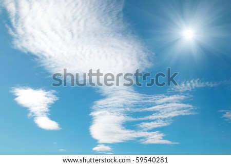 Sun, clouds and sky can be used for background