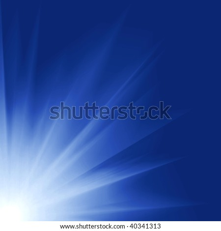 Sun Digitally Generated Image in blue sky of water