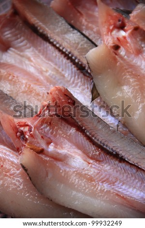 sun dry fish. traditional method of food preservation in asian
