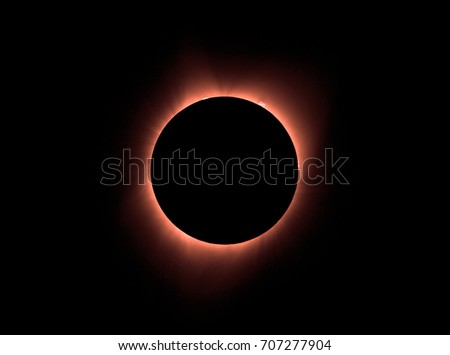 Sun eclipse August 21, 2017 at Agate Fossil Beds National Monument in Nebraska, USA  #707277904