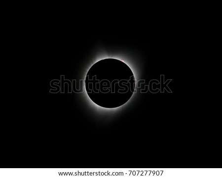 Sun eclipse August 21, 2017 at Agate Fossil Beds National Monument in Nebraska, USA  #707277907