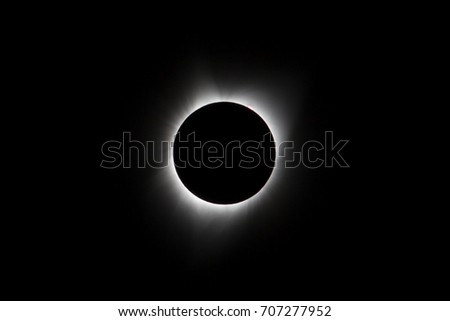 Sun eclipse August 21, 2017 at Agate Fossil Beds National Monument in Nebraska, USA  #707277952