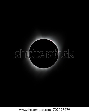 Sun eclipse August 21, 2017 at Agate Fossil Beds National Monument in Nebraska, USA  #707277979