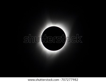 Sun eclipse August 21, 2017 at Agate Fossil Beds National Monument in Nebraska, USA  #707277982