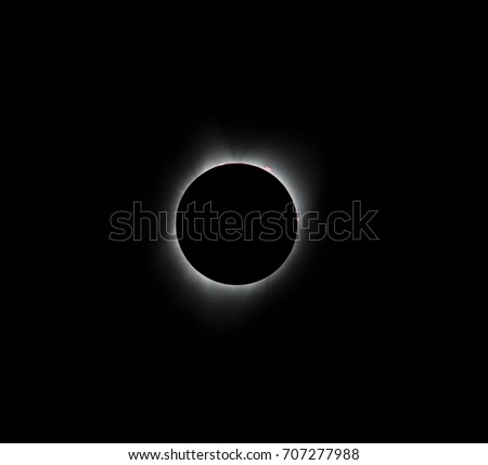 Sun eclipse August 21, 2017 at Agate Fossil Beds National Monument in Nebraska, USA  #707277988