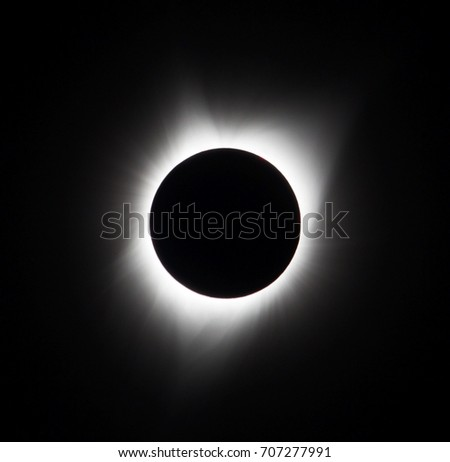 Sun eclipse August 21, 2017 at Agate Fossil Beds National Monument in Nebraska, USA  #707277991