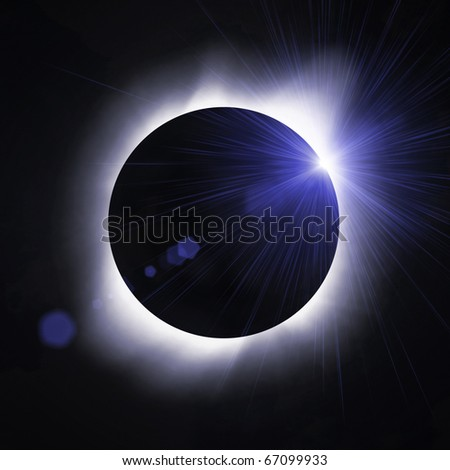 Sun eclipse with sun flare