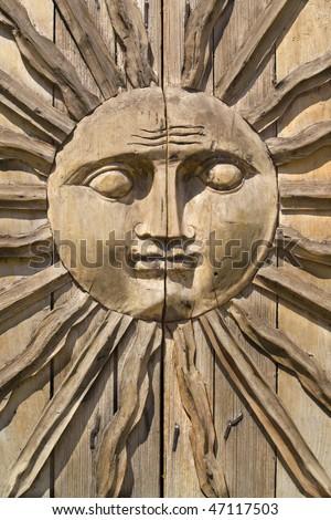 Sun Face Mexican Door