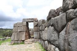 Sun Gate at Sacsayhuaman Cusco Peru, An Inca Gate at Sacsayhuaman Inca Ruins in Cusco Peru
