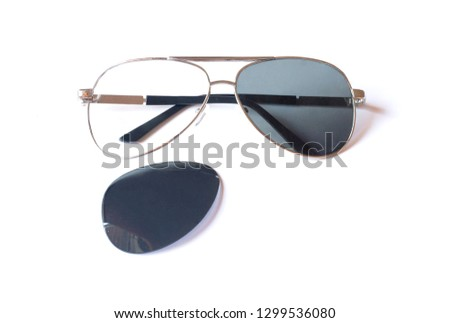 Sun glass on white isolated background #1299536080