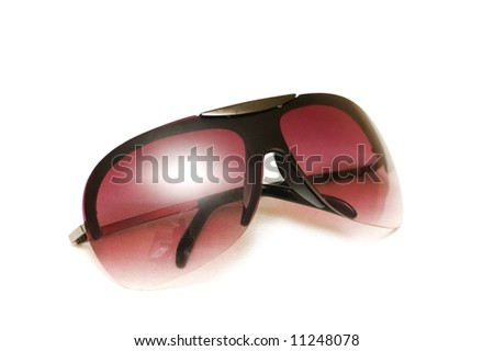Sun glasses isolated on the white background