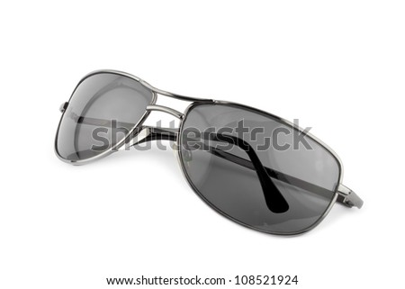 sun glasses on white background