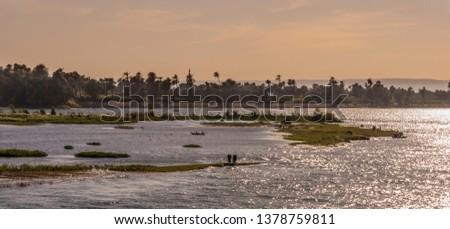 Sun glistening on the Nile