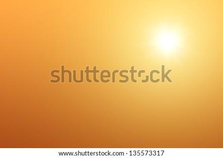 Stock Photo Sun in summer sky background