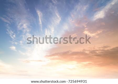 Sun light and morning sunshine sky autumn sunset perspective background