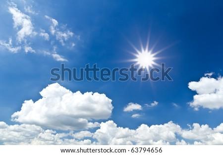 sun light cloud and blue sky #63794656