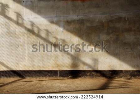 Sun lights and shadow on the old walls