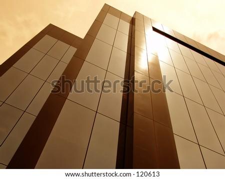 Sun on Building