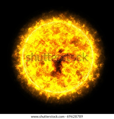 Sun Planet in the Space