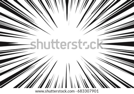 Sun Rays for Comic Books Radial Background Raster