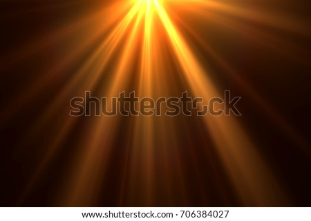 Sun rays isolated on black background for overlay design