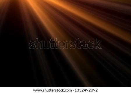 Sun rays light isolated on black background for overlay design #1332492092
